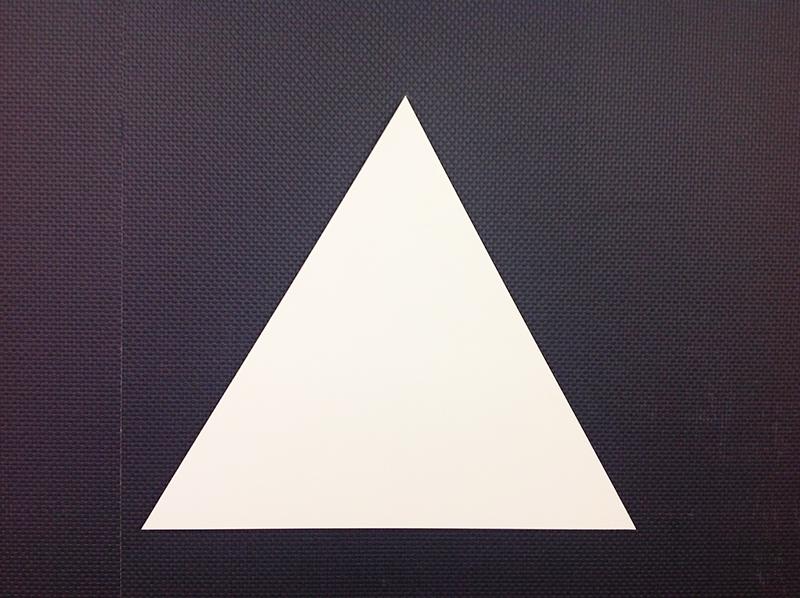 切り抜きパネル 3角形 / 300×260×2.5mm / 1枚   DIY木材を使用した通販 ...